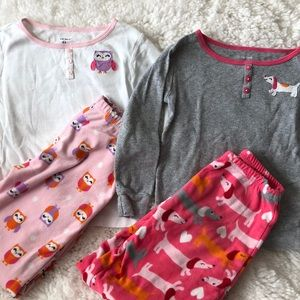 Carters girls pajama set